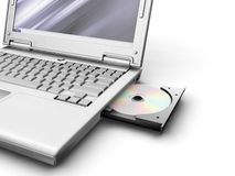 Computadora portátil genérica Imagenes de archivo