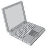 Computadora portátil gris Foto de archivo libre de regalías