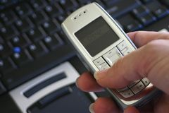Computadora portátil móvil foto de archivo