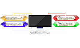 computadora portátil moderna aislada en el fondo blanco Imagen de archivo libre de regalías