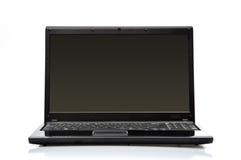 Computadora portátil negra fotografía de archivo