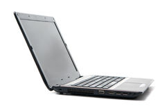Computadora portátil negra fotos de archivo libres de regalías
