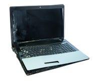 Computadora portátil quebrada Imagenes de archivo
