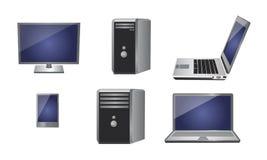 Computadora portátil, teléfono móvil, PC digital de la tablilla Imagen de archivo
