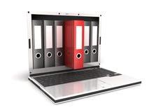 Computadora portátil y ficheros libre illustration