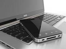 Computadora portátil y teléfono móvil. libre illustration