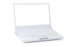 Computadora portátil blanca Imagen de archivo libre de regalías