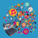 Computadora portátil de la diversión Imagen de archivo