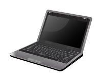 Computadora portátil de la pantalla en blanco Imagen de archivo