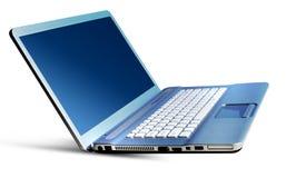 Computadora portátil de plata Fotos de archivo libres de regalías