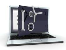 Computadora portátil segura Foto de archivo
