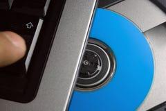 Computadora portátil y software Imagenes de archivo
