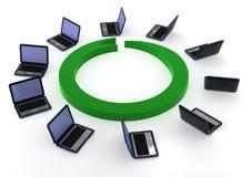 Computadoras portátiles Imagenes de archivo