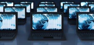 Computadoras portátiles del ordenador stock de ilustración