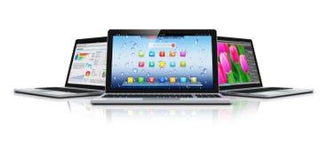 Computadoras portátiles modernas Imagen de archivo libre de regalías