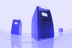 Computadores azuis Imagem de Stock Royalty Free