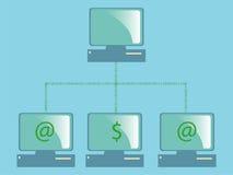 Computadores de rede dos dados Imagens de Stock