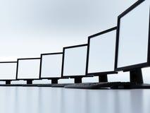 Computadores em uma rede local Imagem de Stock Royalty Free