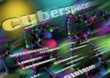Computadores - Internet - Cyberspace imagem de stock