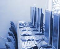 Computadores no escritório Foto de Stock