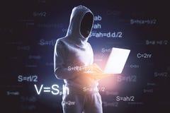 Computando, concetto di attacco e di programmazione fotografie stock
