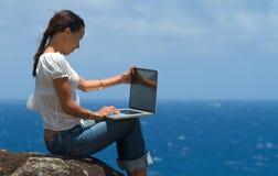 Computando nel paradiso Immagini Stock Libere da Diritti