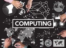 COMPUTAR (memória de Digitas do computador de dados) Imagens de Stock