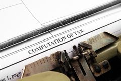Computation of tax Stock Photos
