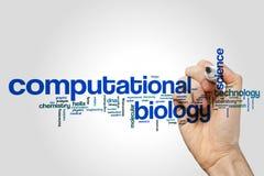 Computational biology word cloud Royalty Free Stock Image
