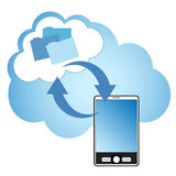 Computazione della nube Immagine Stock