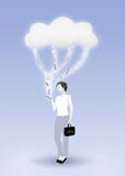 Computazione della nube - servizio mobile Immagini Stock