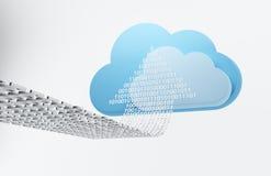 Computazione della nube, uploading Immagini Stock Libere da Diritti