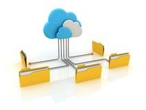Computazione della nuvola Fotografia Stock
