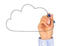 Computazione della nuvola. Immagini Stock Libere da Diritti