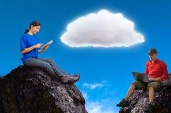 Computazione della nuvola Immagine Stock