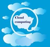 Computazione della nuvola Immagini Stock
