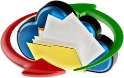Computazione della nuvola e documenti digitali di circolazione royalty illustrazione gratis