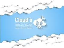 Computazione della nuvola infographic Fotografia Stock Libera da Diritti