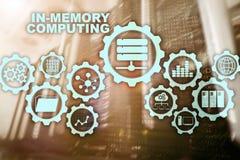 Computazione di In-memoria Concetto di calcoli di tecnologia Apparecchio analitico ad alto rendimento illustrazione di stock