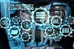 Computazione di In-memoria Concetto di calcoli di tecnologia Apparecchio analitico ad alto rendimento illustrazione vettoriale