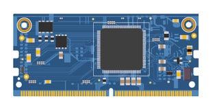 Compute a placa do módulo para o Internet de projetos das coisas e da eletrônica de DIY Fotografia de Stock Royalty Free
