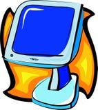 Computerüberwachungsgerät lizenzfreie abbildung