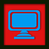 Computerüberwachungsgerätikone Lizenzfreies Stockbild