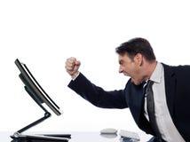 COMPUTER$überschneidung-Programmfehlerkonzept des Mannes rechnen Stockfotografie