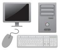 Computer. Components of the computer, illustration Royalty Free Stock Photos