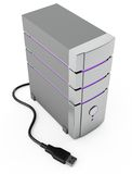 Computer. Modern computer server on white background Stock Images