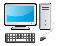 Computer. Illustration of computer on white background Royalty Free Stock Images