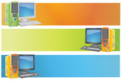 Computer. Vector abstract computer  book banner colourful blurred Royalty Free Stock Photography