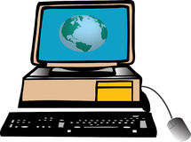 Computer. World royalty free illustration