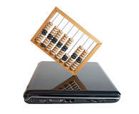 Computer and Abacus Stock Photos
